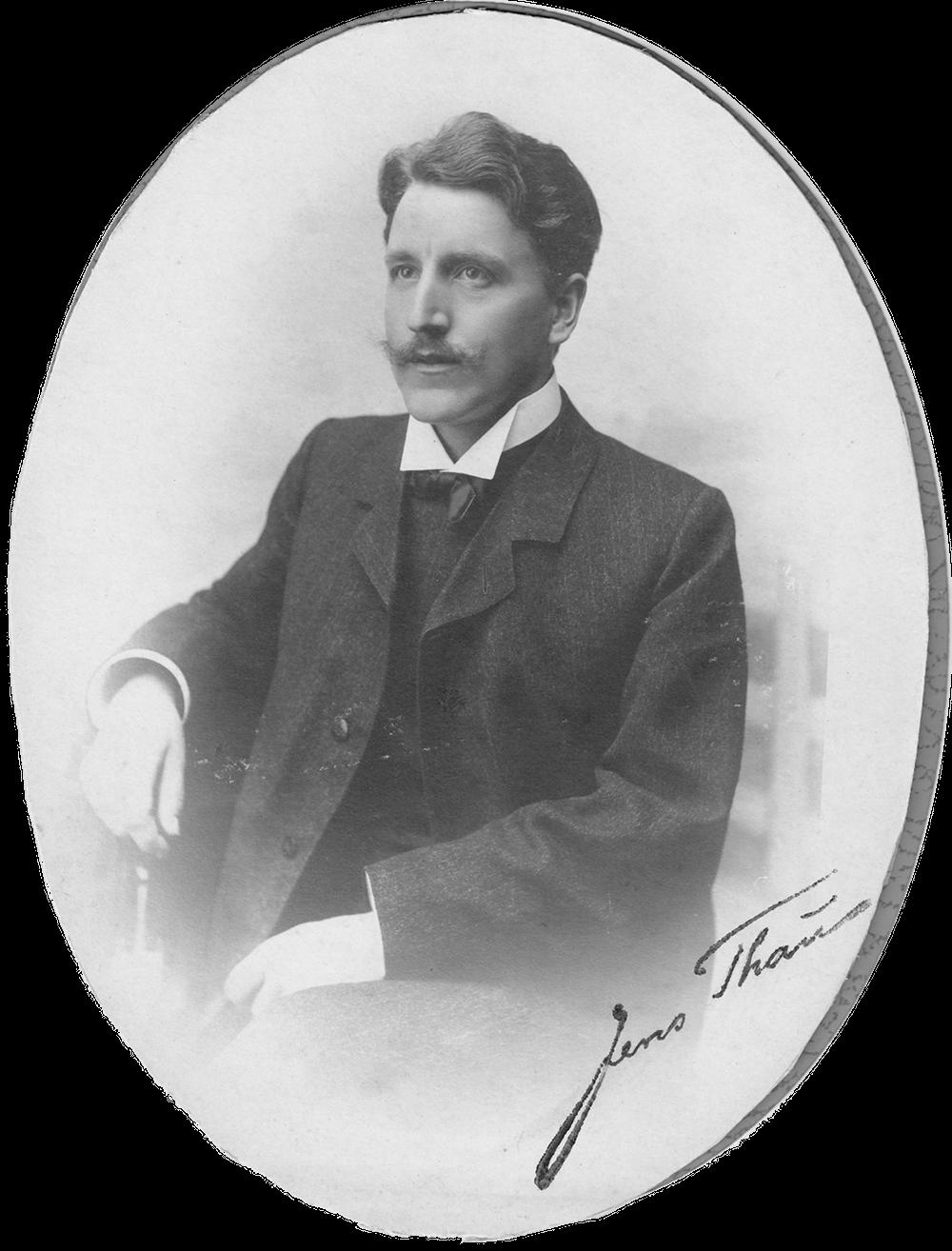 Jens Thau, portræt fra ca. 1910