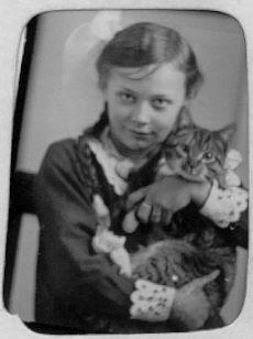 Magda med sin kat